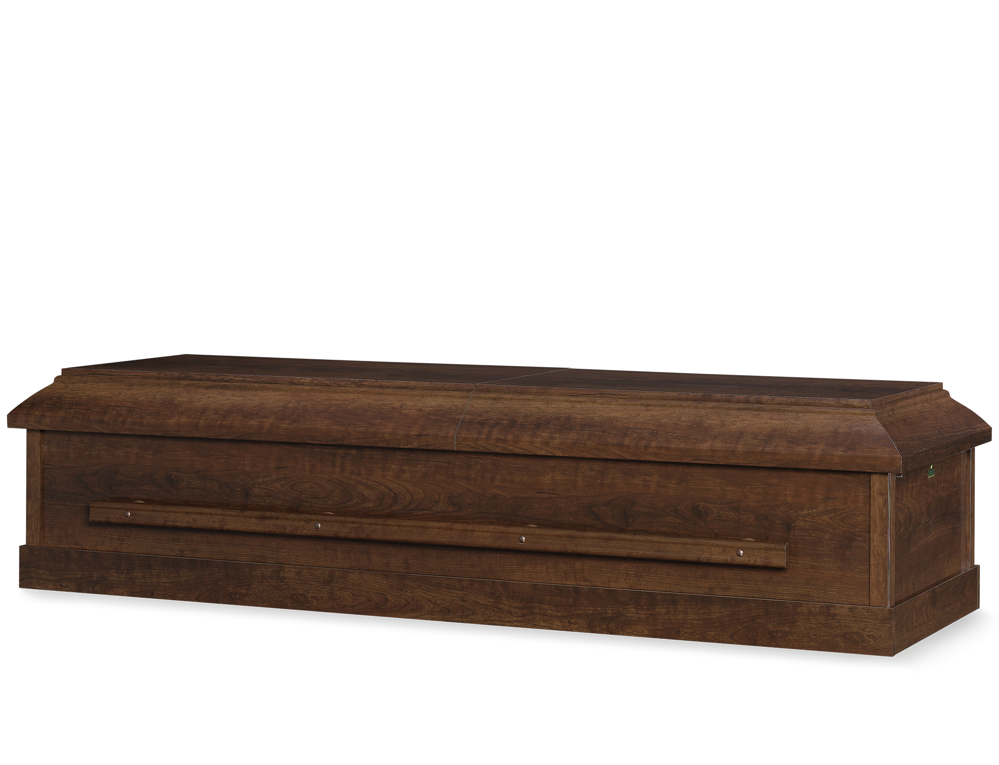 Wood Casket Brown Cherry Perfection Couch Rosetan Crepe - Casket coffee table